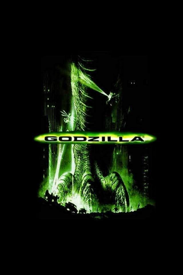 Godzilla movie background iPhone wallpaper black n neon