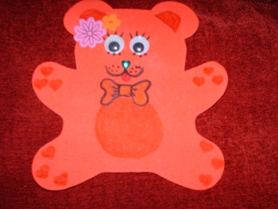 Colourful bears for the baby's nursery wall by CelestialStudio13, $6.00