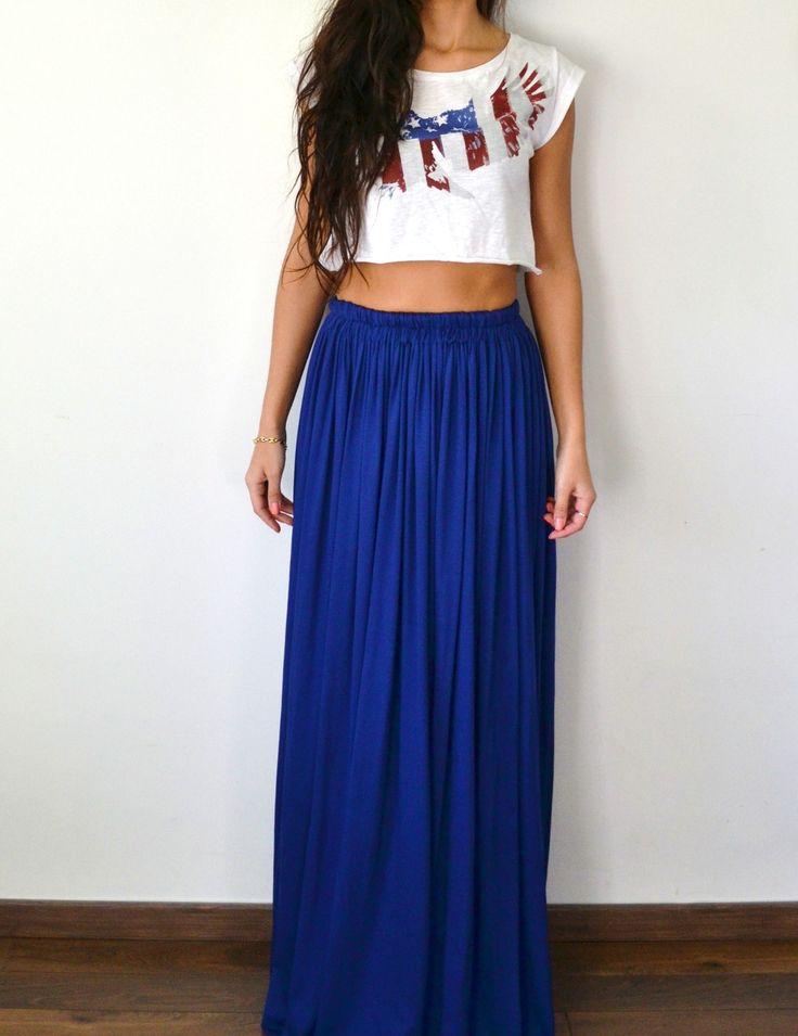 Les 31 meilleures images propos de maxi jupes longues - Jupe boheme chic ...