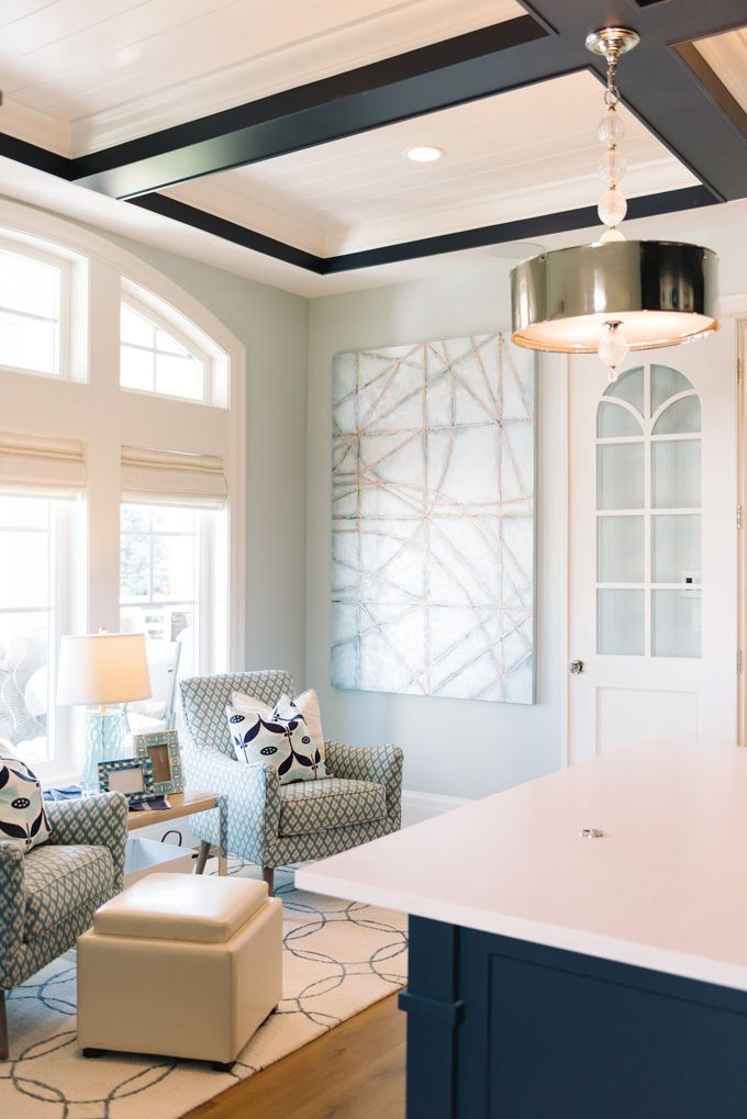 i like the contrasting ceiling beams wall color is benjamin moore cool breeze living room. Black Bedroom Furniture Sets. Home Design Ideas