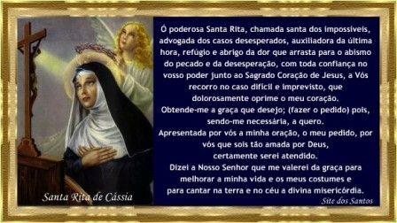 oração de santa rita de cassia -