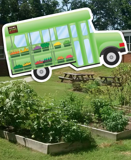 This custom die cut sticker, as a mobile produce green bus, is just the start of HomeGrown Heroes and the good work they are doing in their community.