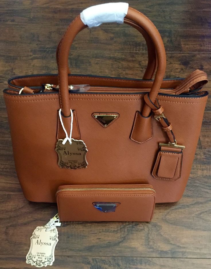 2 Way Tote Purse with Wallet. Available in Brown & Royal Blue.