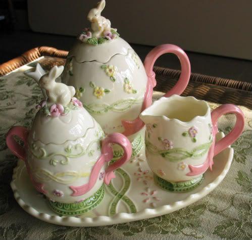 Easter Tea Set The Teapot Amp Sugar Bowl Are Shaped Like