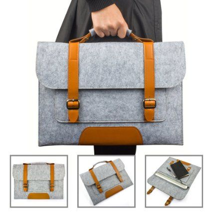 TomEasy® Fieltro Funda Blanda Bolso para 38,1-39,6 cm (15-15,6 Pulgadas) Filz Sleeve para Ordenador Portátil Carrying Bag/Laptop Bag Case Cover para MacBook / MacBook Pro, Acer Asus Dell Fujitsu Lenovo HP Samsung Sony Toshiba Fujitsu Medion Microsoft Color: Gris