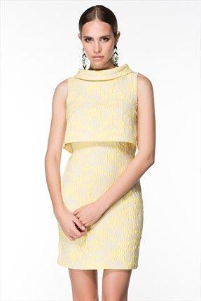 Sarı Jakarlı Elbise MLWSS142315