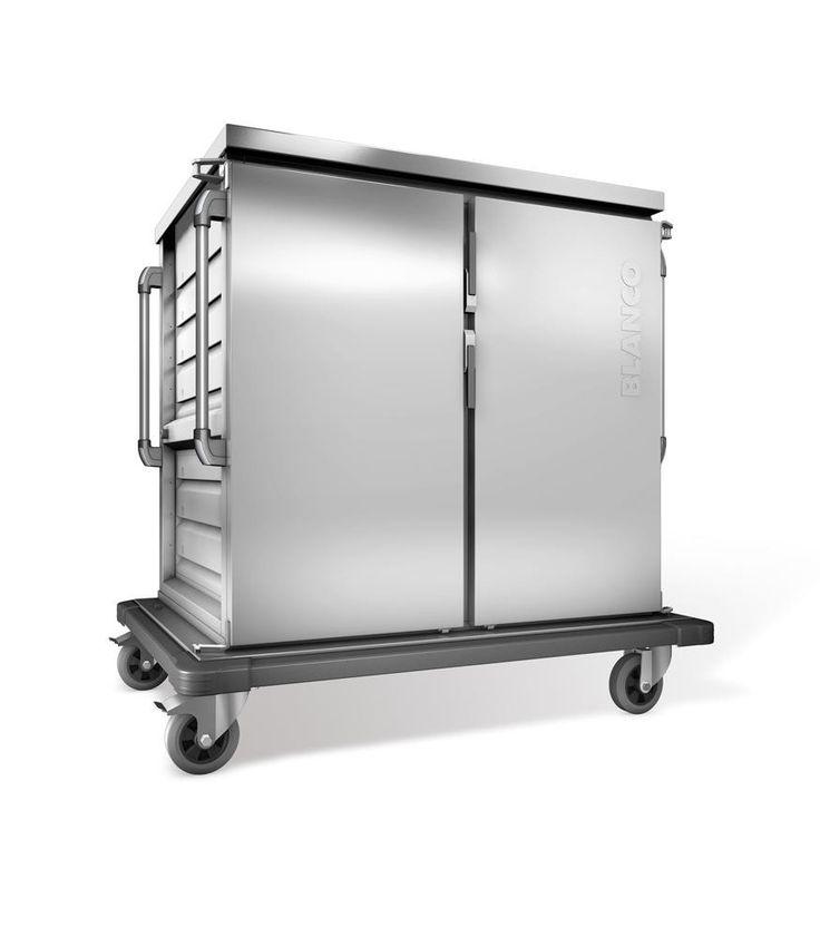 GTARDO.DE:  Tablettwagen für 32 EN o. GN-Tabletts, einwandig, 2 Schränke mit Flügeltüren, BxTxH 1452x956x1406 mm 2 881,00 €