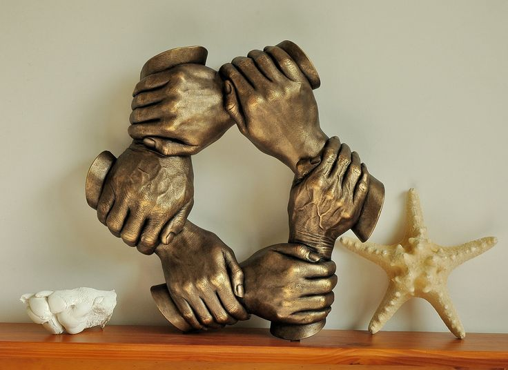 Family handcasting with bronze paintwork