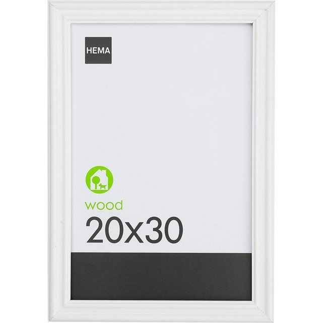HEMA cadre photo - 20 x 30 cm - bois - blanc HEMA