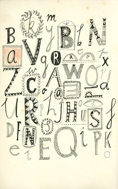 The alphabet. Love the line work. its very quirky and not perfect , which gives it style and character