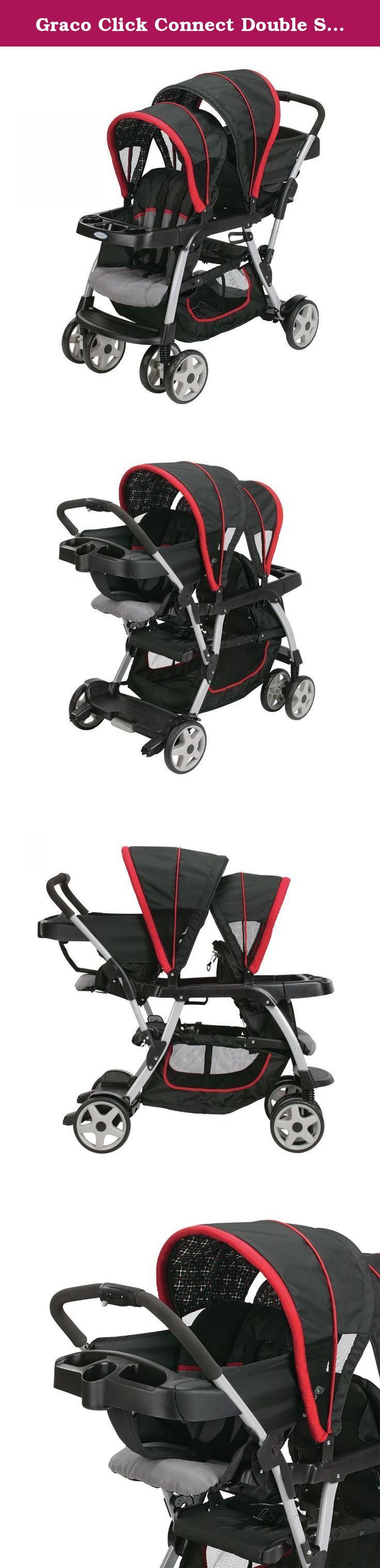Graco Click Connect Double Seated Stroller and 2 Car Seats
