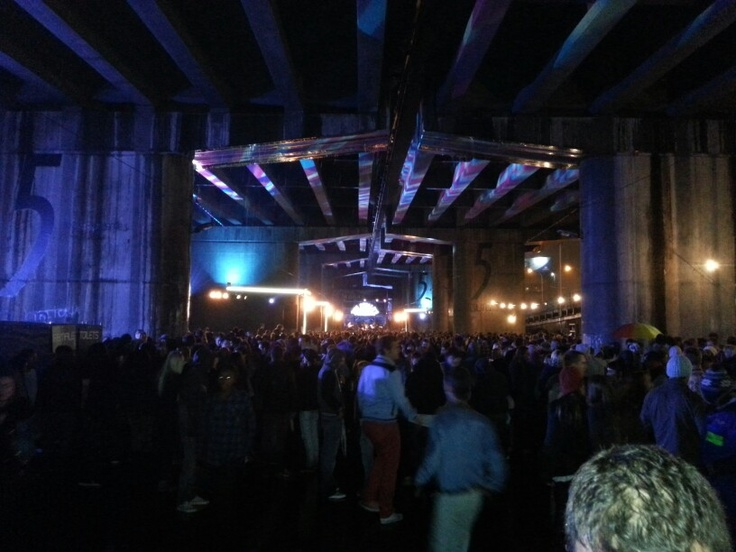 The Kooks under a bridge in JHB central