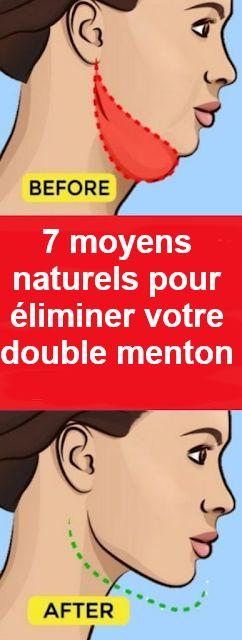 7 moyens naturels pour éliminer votre double menton