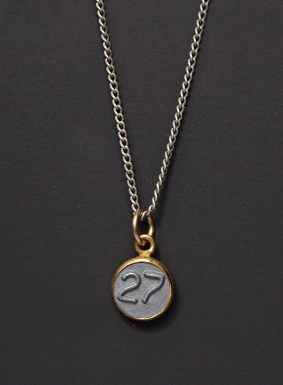 815419378 Number 27 Necklace / Mens Necklace / Numerology Personalized Men Jewelry /  Man Jewelry / Number TWEN