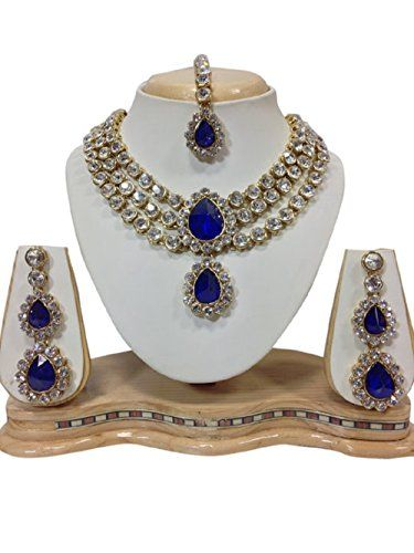 Bollywood Design Blue big Stones CZ White Stones Pearls I... https://www.amazon.com/dp/B01KC3Q4J0/ref=cm_sw_r_pi_dp_x_PXKZybKFZEVW3