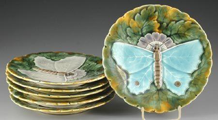 PAPILIO ANTIQUE – Aukce, starožitnosti. Archiv 18. aukce – Sada dezertních talířů Olomučany