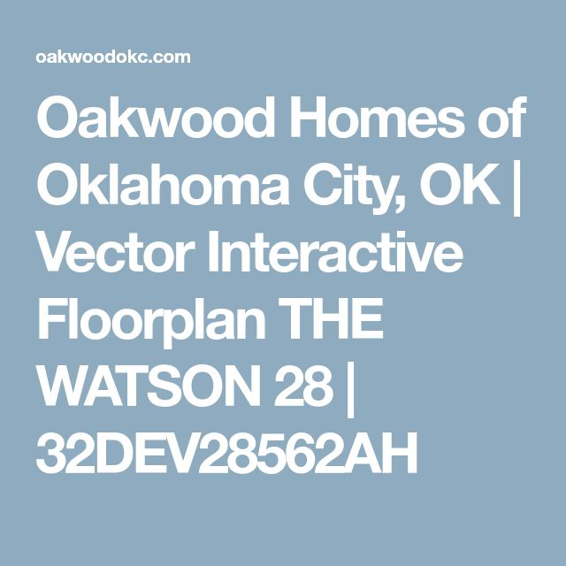 Oakwood Homes of Oklahoma City, OK | Vector Interactive Floorplan THE WATSON 28 | 32DEV28562AH