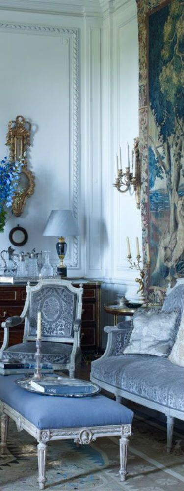 430 Best THE BLUE CHATEAU Images On Pinterest Blue French Blue And House Interiors