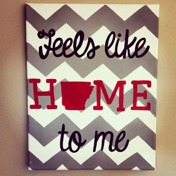 I need this!! Hand painted Arkansas home canvas 11x14 by TheCraftyFoxLR on Etsy, $25.00