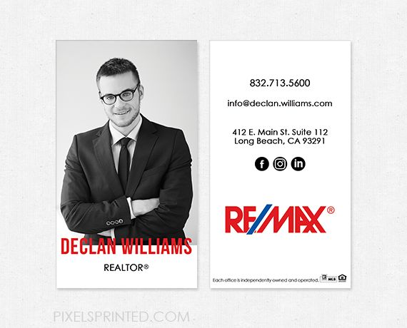 Remax business cards realtor business cards real estate for Best remax business cards