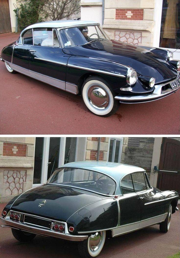 Citroën DS Le Paris by Henri Chapron 1959: la version hardtop de La Croisette Les ailes arrières sont en deux pieces séparées par un joint ou cachées par des appliques chromées. Une voiture fabriquée 1958, 8 voitures en 1959