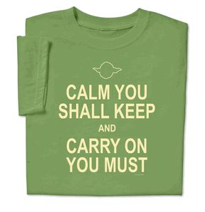 Must have Calm Keep Yoda T-shirt http://www.computergear.com/star-wars-calm-keep-yoda-tshirt.html