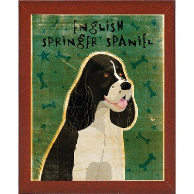 East Urban Home English Springer Spaniel Black And White Graphic Art Print Format Paper Size 20 H X 16 W X English Springer Art