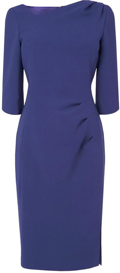 Add accessories and black shoes and it would be perfect for work.  LK Bennett Mariana Pleat Dress
