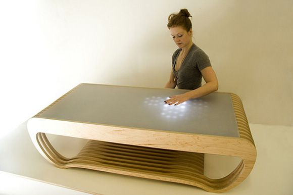 Interactive LED Coffee Table Ripple