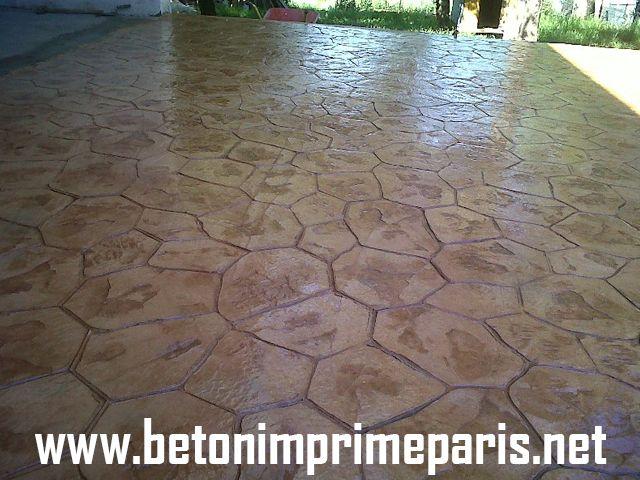 terrase beton imprime #beton