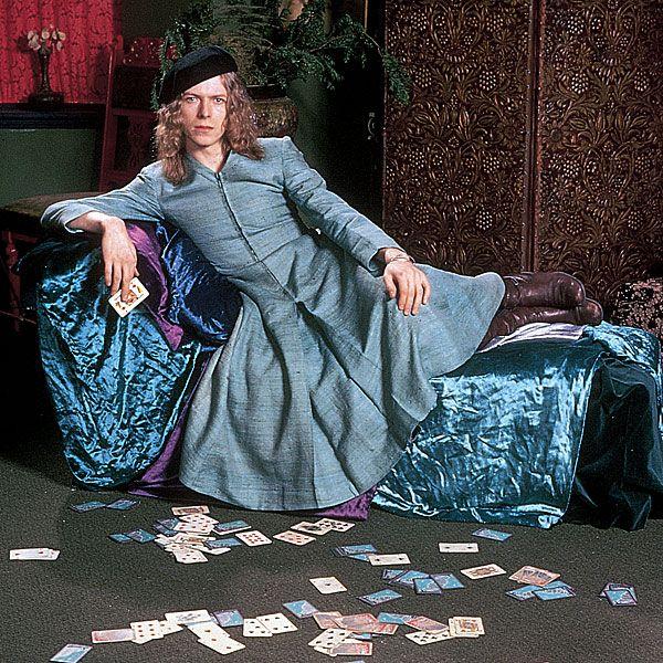 1971 Grey Dress - David Bowie Photos