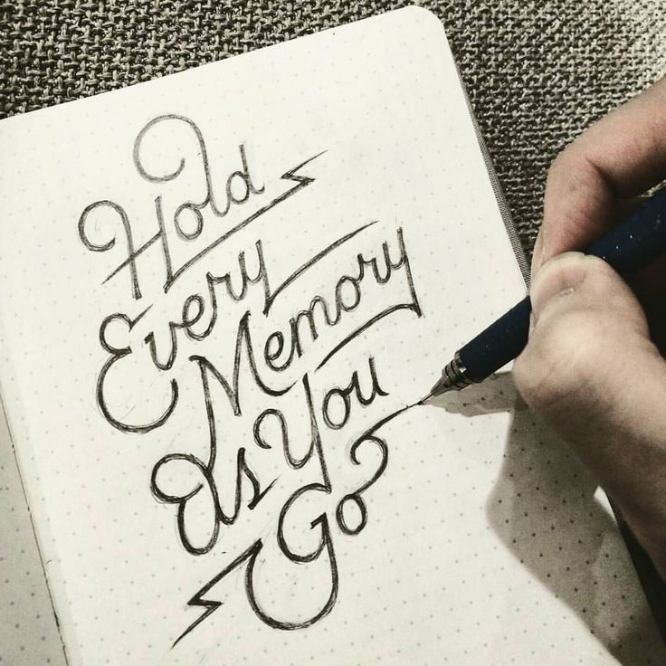 Hold every memory as you go . From a beautiful lettering work by @dandrawnwords __ Featured by @thedailytype #thedailytype Learning stuffs via: www.learntype.today __ by thedailytype