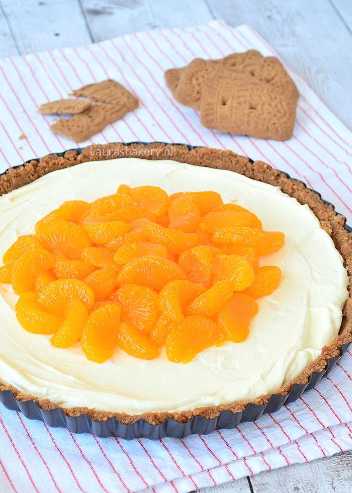 Speculaas Monchou taart met mandarijnen