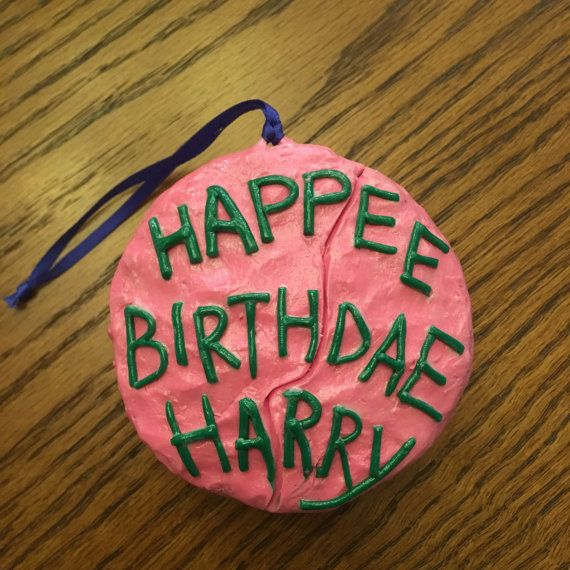 An ornament perfect for Potterheads alike; whether to hang on their Christmas tree, give to their fellow witch or wizard as a gift, or even celebrate your own Harry Potter birthday! This polymer clay ornament comes with attached string to hang, decorative box, and string to tie it. -Background- I started making these (and other assorted ornaments) for my potter loving family in attempt to start a new Christmas tradition, and bring alive something my family grew up to know and love…