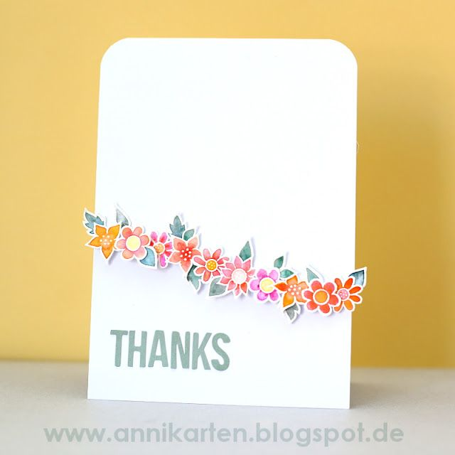 Am Freitag gab es schon den zweiten Teil meines Gastdesigns bei Denami Design. Dieses Mal habe ich einen Blumenkarte zu zeigen! Last Friday happened the second part of being a guest designer at Denami