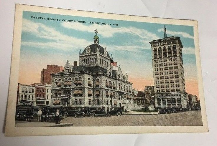 VTG Linen Postcard Fayette County Court House Lexington, Kentucky KY Free Ship