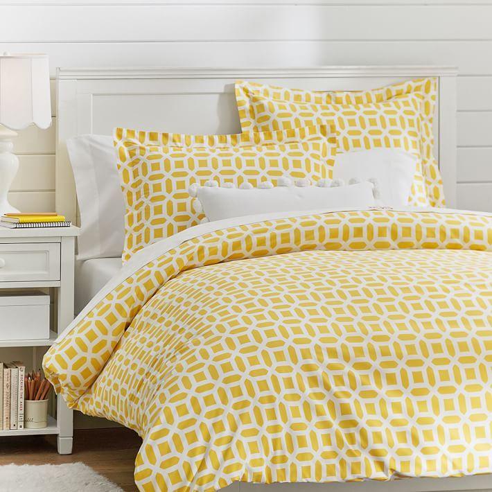 Peyton Duvet Cover Sham Duvet Covers Yellow Yellow