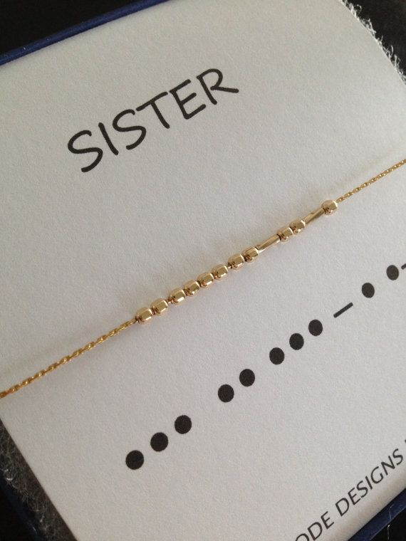 Celebrate the bond that only sisters share, with these lovely Morse Code bracelets. Original Morse Code bracelets feature 14k Gold Filled