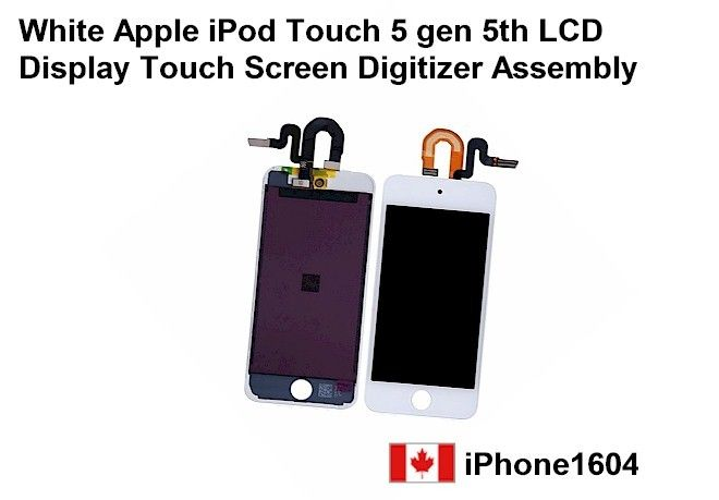 White apple ipod touch 5 gen 5th LCD display touch screen digitizer assembly Price= $199.50