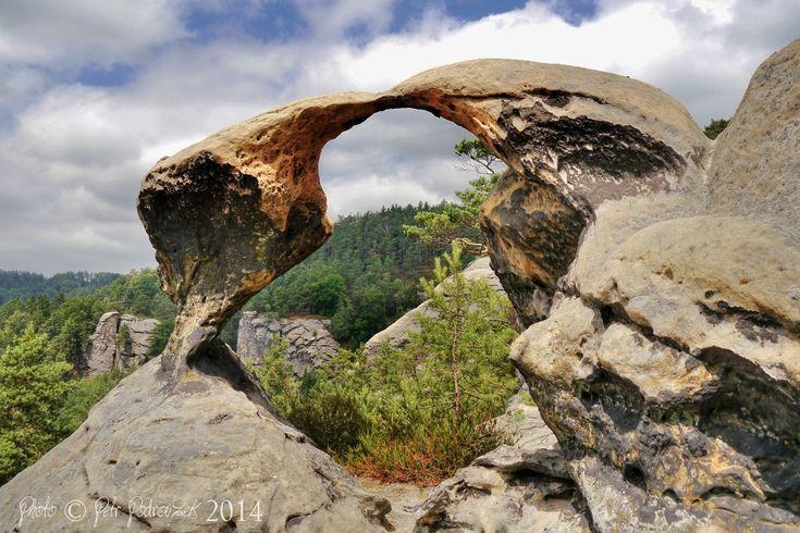 Skalní brána Ptačí polibek | Příhrazské skály, Český ráj