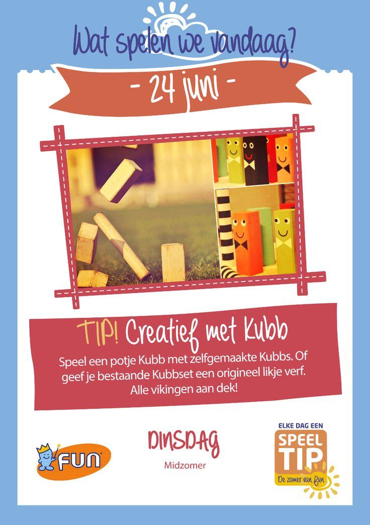 Maak je eigen Kubb spel of schilder je gekochte spel, maakt het Kubben weer wat leuker :-). Klik op de afbeelding voor alle info.