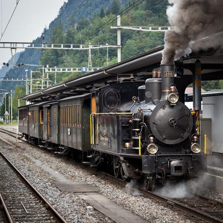 Ballenberg Dampfbahn in Brienz (Switzerland). The loco is Nº 208 of Swiss Federal Railways Ballenberg Dampfbahn G 3/4 208 by Remy Frints