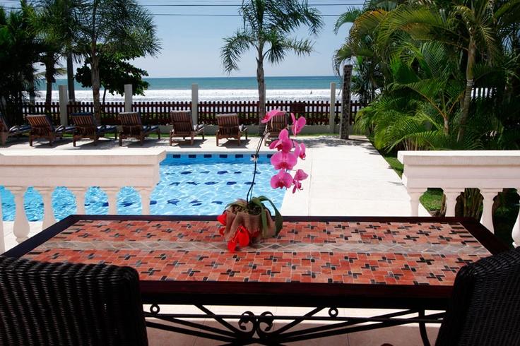 Poolside at La Paloma Blanca in Jaco Costa Ric