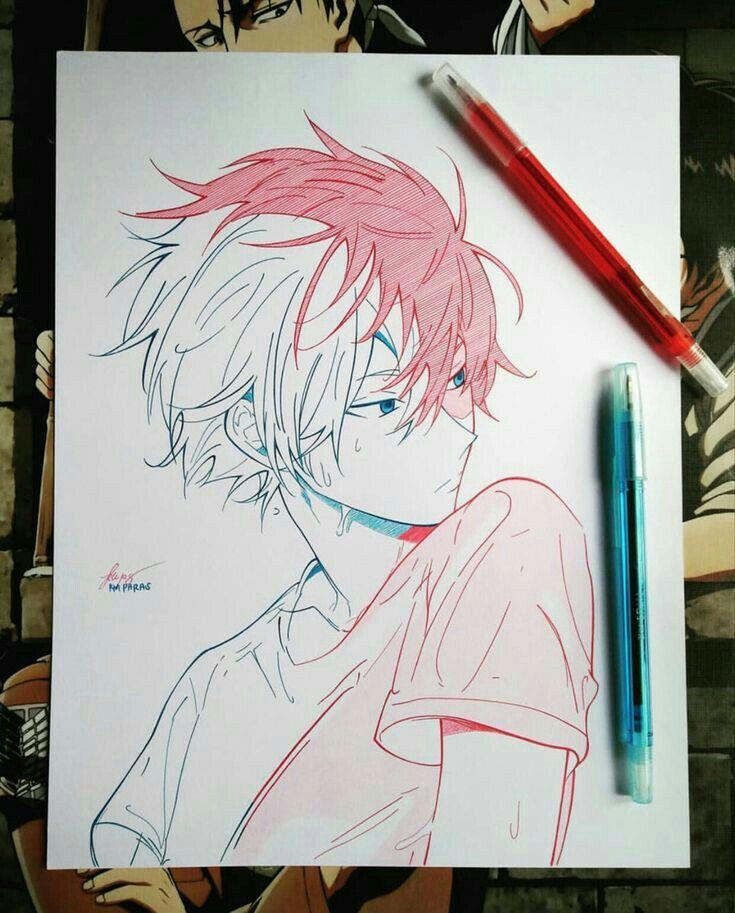 Todoroki Mha Sketch Colored Design Digital Drawing Pencil Best Anime Drawings Anime Art Tutorial Anime Drawings Boy