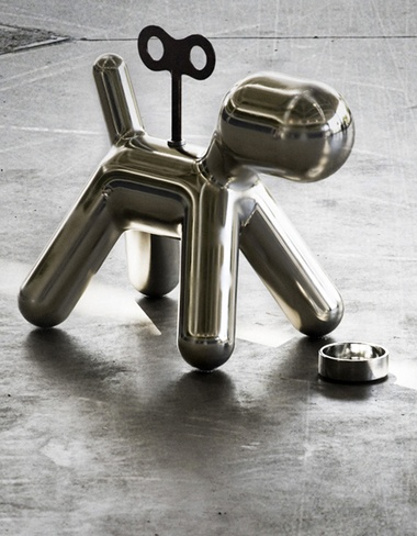 = chrome life size wind-up toy