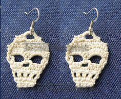 Ganchillo PDF ganchillo cráneo patrón, cráneo pendientes, Tutorial diagramas, bricolaje, accesorios de cráneo,