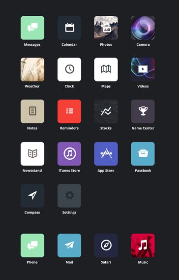Clean and simple iOS 7 Design Concept.