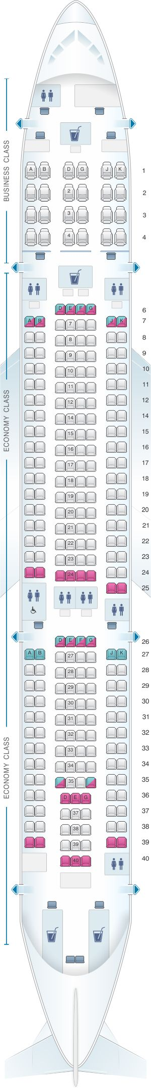 Best Airbus A Seating Ideas On Pinterest Commercial - Us airways seating map