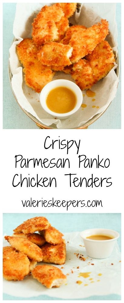 Dinner ready in 25 minutes! Your kids will be crazy about these Crispy Parmesan Panko Chicken Tenders.