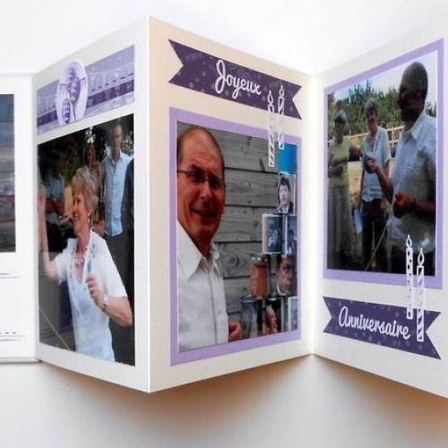 Album accordéon Anniversaire - Kit Express Mon anniversaire